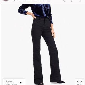 Jcrew wide leg denim trouser - size 27 in BLACK